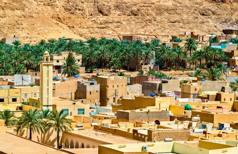 El Atteuf, en gammal stad i den M-`-Zab dalen i Algeriet royaltyfri bild