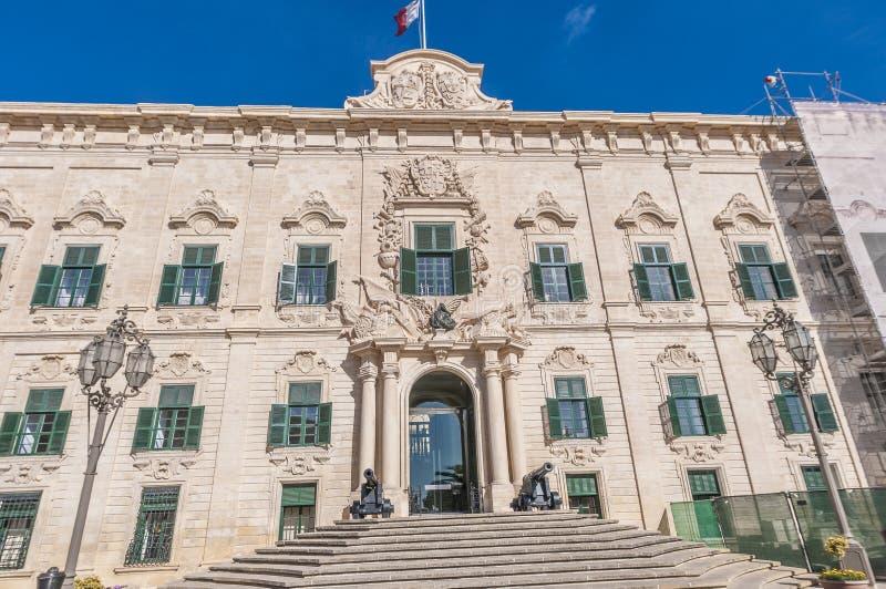 El Auberge de Castille en La Valeta, Malta foto de archivo