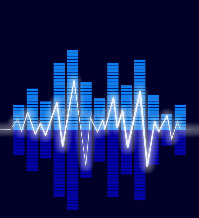 El audio agita adentro   ilustración del vector