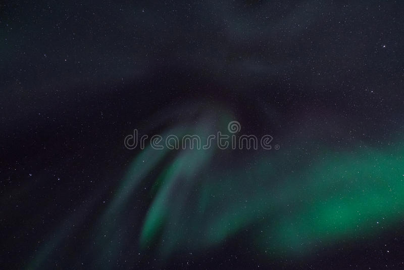 El aurora borealis septentrional polar se enciende en Noruega Svalbard imagen de archivo libre de regalías