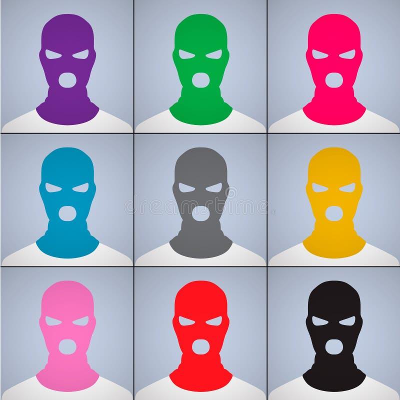 El autor anónimo de avatares en una casquillo-máscara ilustración del vector