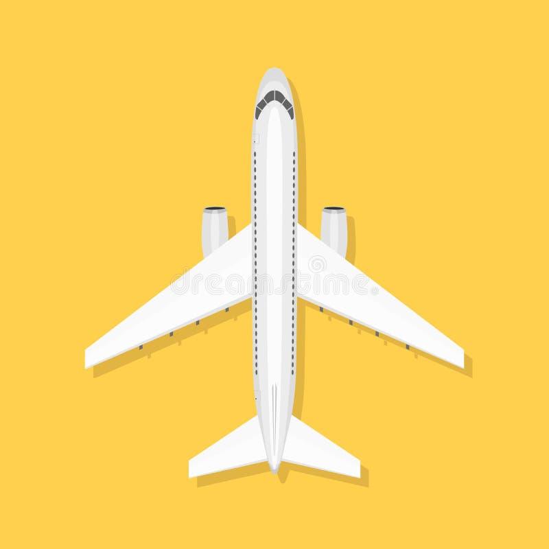 El avión está en la tierra ilustración del vector
