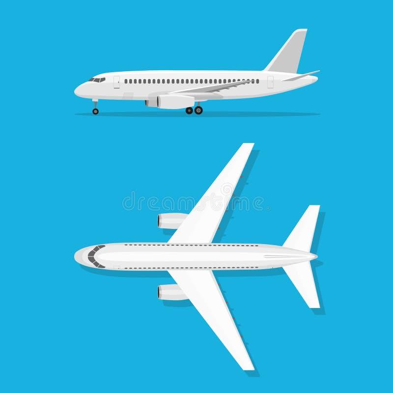 El avión está en la tierra stock de ilustración