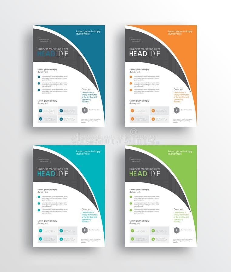 el aviador /brochure/poster/ del márketing de negocio y el informe diseñan la plantilla libre illustration