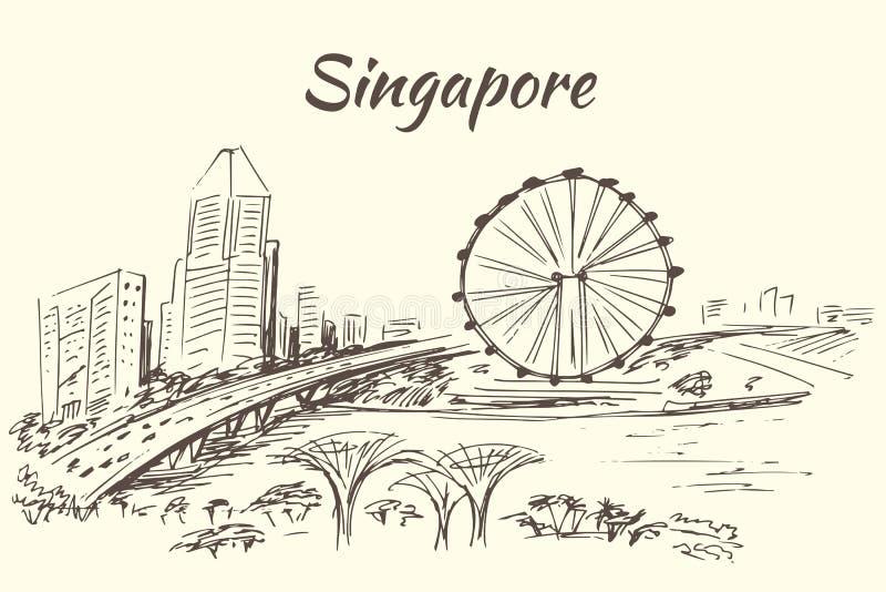 El aviador de Singapur - Singapur ilustración del vector