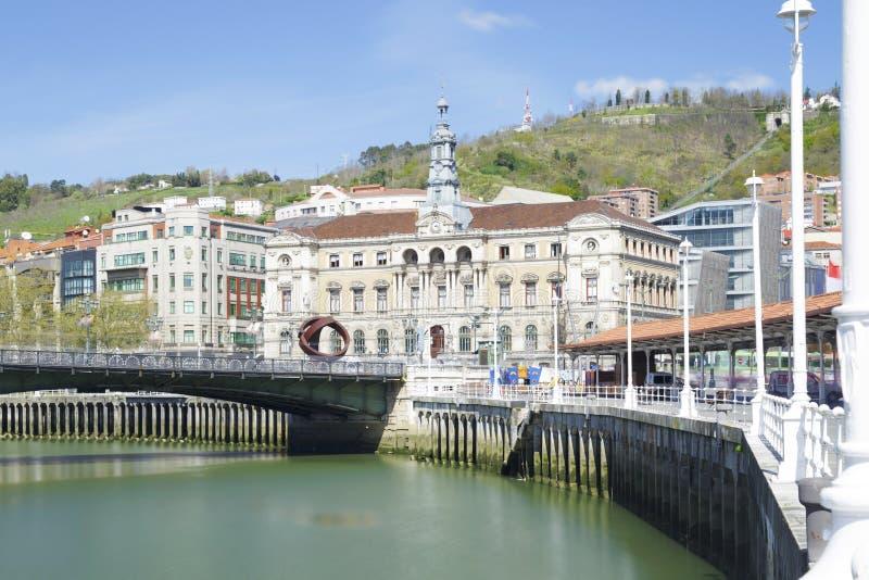 El ayuntamiento de Bilbao, país vasco, España imagen de archivo