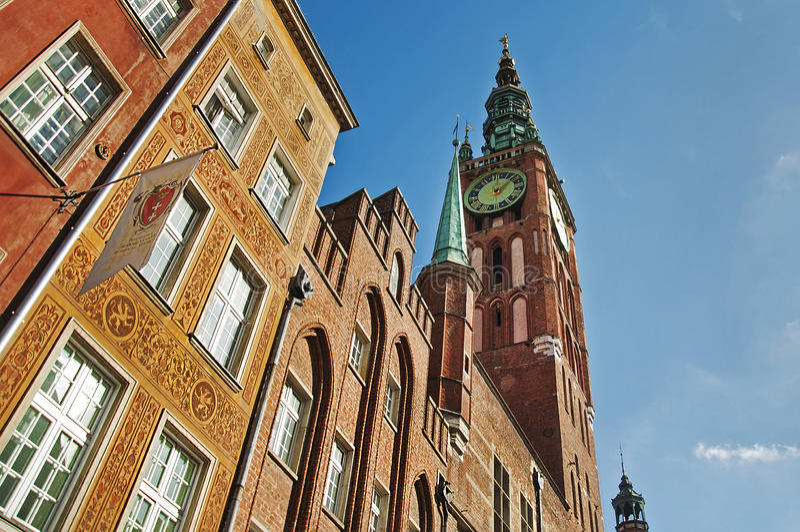 El ayuntamiento de Gdansk fotografía de archivo libre de regalías