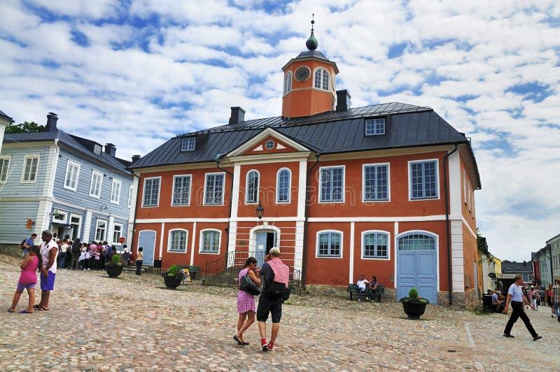 El ayuntamiento de Porvoo, Finlandia foto de archivo