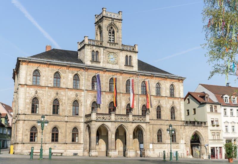 El ayuntamiento de Weimar fotos de archivo
