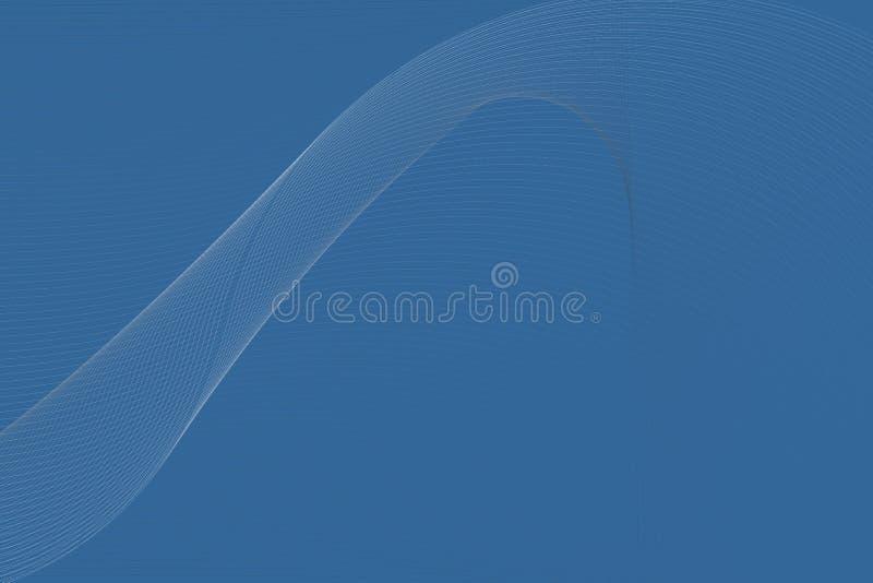 El azul abstracto del vector al blanco sombreó el fondo ondulado de la guarnición, ilustración del vector