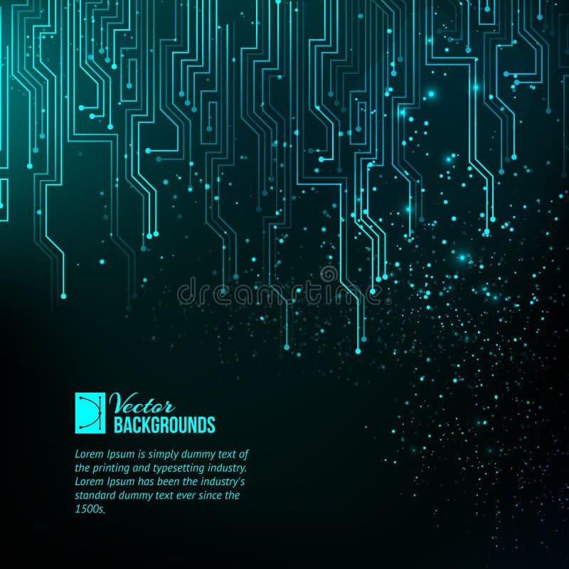 Luces azules abstractas. ilustración del vector