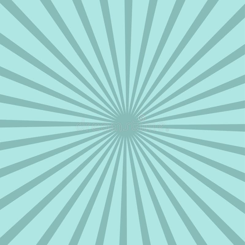 El azul brillante irradia el fondo Efecto del tornado ilustración del vector