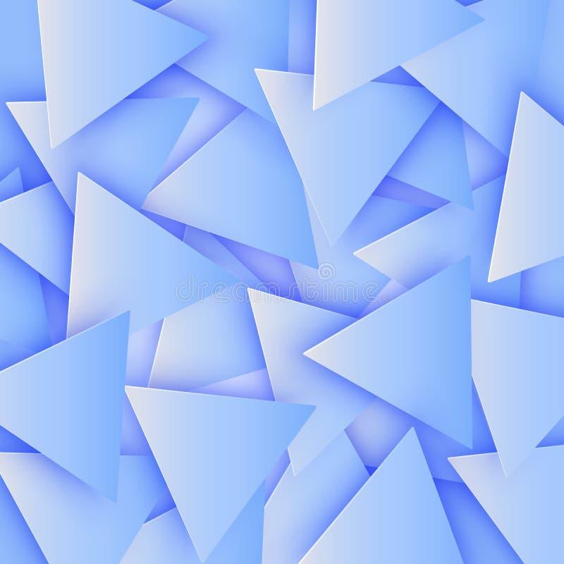 El azul coloreó la textura geométrica poligonal abstracta, fondo del triángulo 3d Fondo triangular del mosaico para el web libre illustration