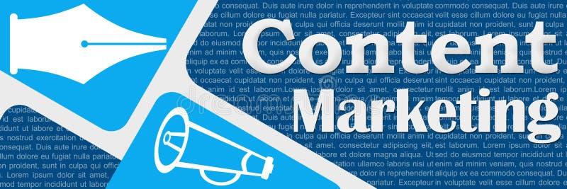 El azul contento del márketing redondeado ajusta la bandera libre illustration