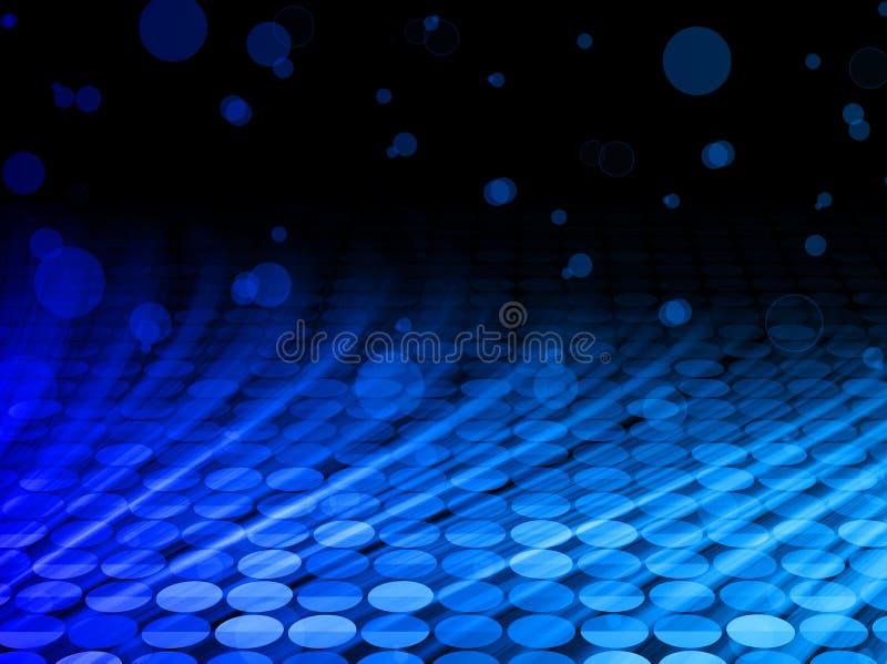 El azul del disco del invierno agita en fondo negro ilustración del vector
