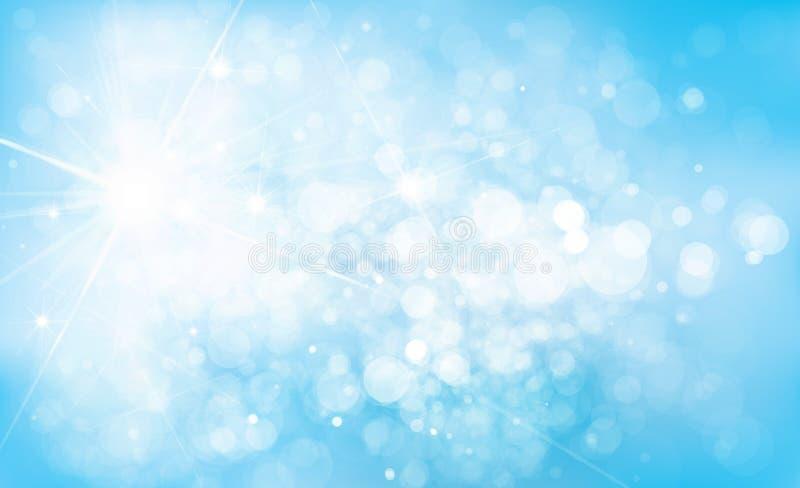 El azul del vector enciende el fondo ilustración del vector