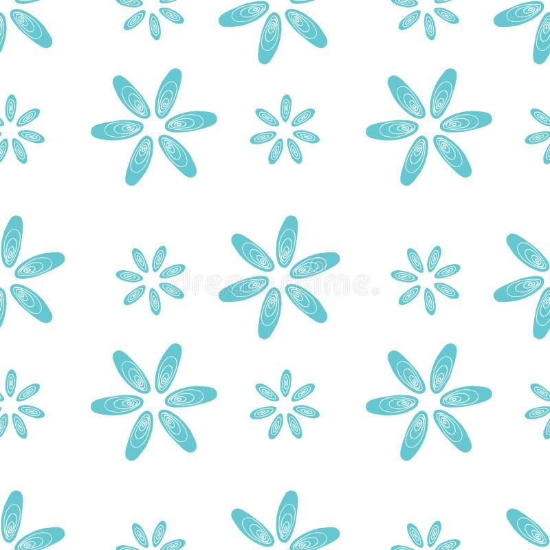 El azul inconsútil del modelo descasca las flores de los mejillones libre illustration