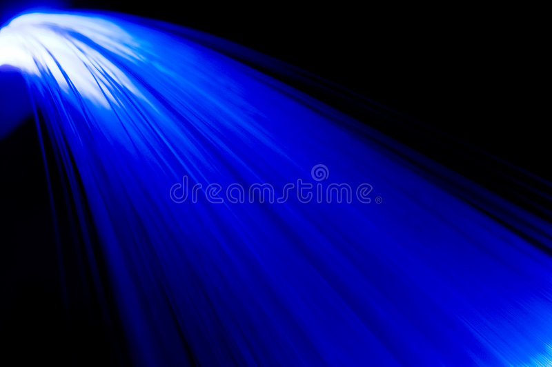 El azul irradia la cascada imagen de archivo