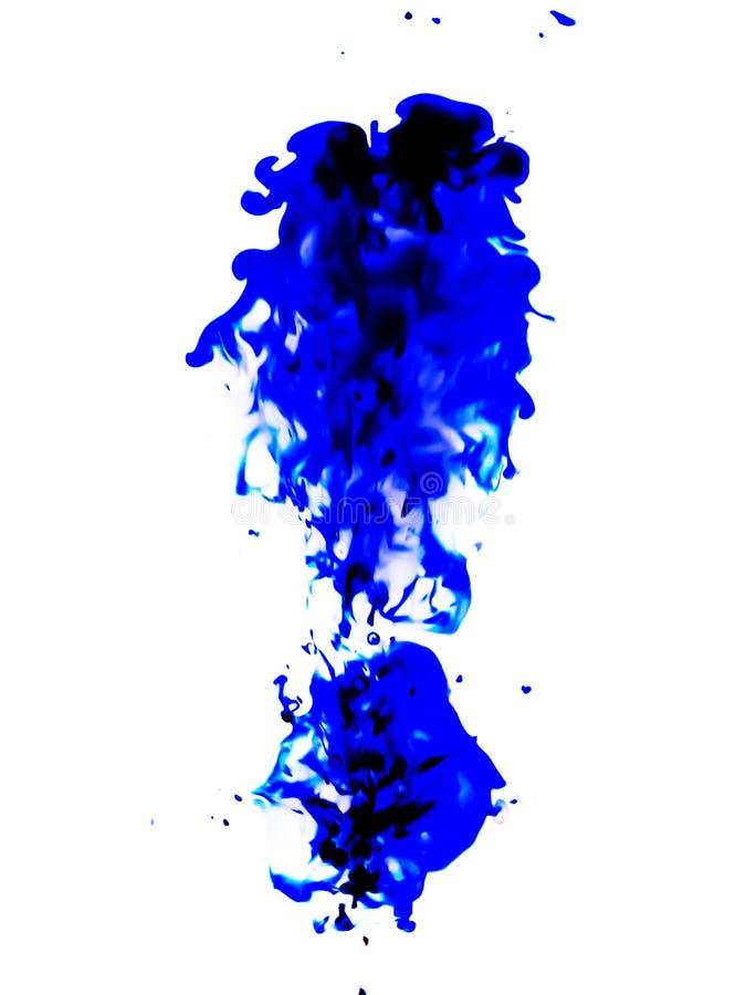 """El azul mancha abstracción del †""""en el fondo blanco fotos de archivo"""