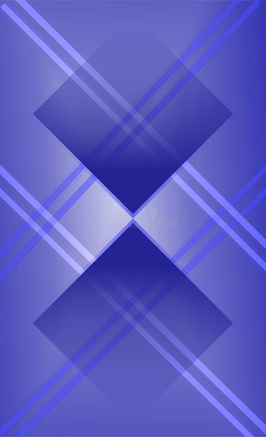 el azul marino sombrea la dimensión geométrica moderna de la coincidencia, vector del extracto de la pendiente, bandera del argyl ilustración del vector