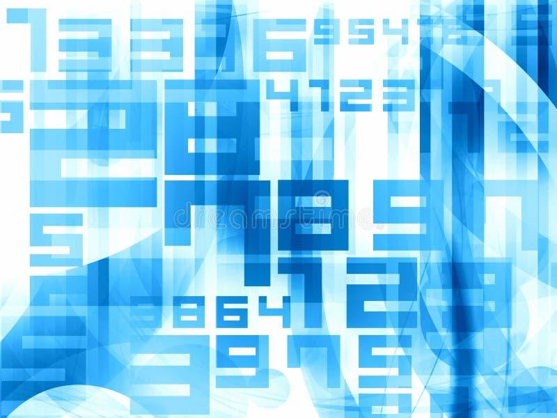 El azul numera el fondo ilustración del vector