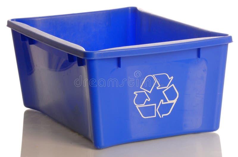 El azul recicla el compartimiento imagenes de archivo