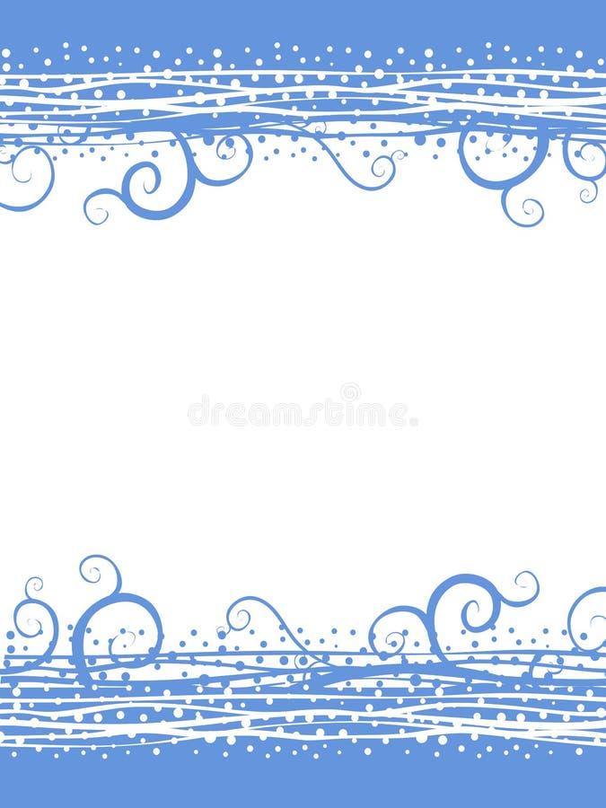 El azul remolina frontera de la Navidad de la nieve libre illustration