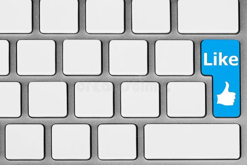 El azul tiene gusto del botón imagen de archivo