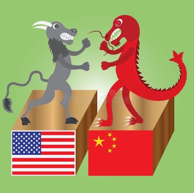 El búfalo contra el dragón libre illustration
