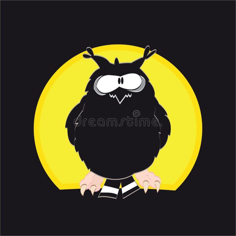 Download El búho stock de ilustración. Ilustración de bosque, concepto - 42425137