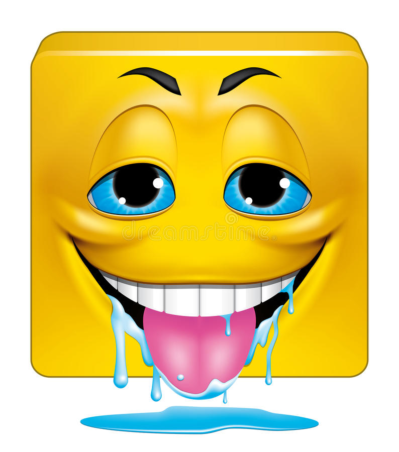 El babear cuadrado del emoticon stock de ilustración