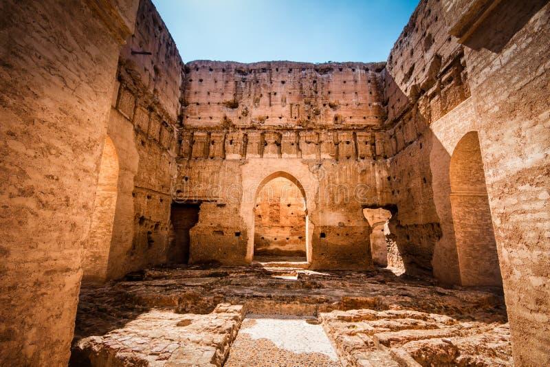 El Badi pałac, Marrakech, Marocco obraz stock