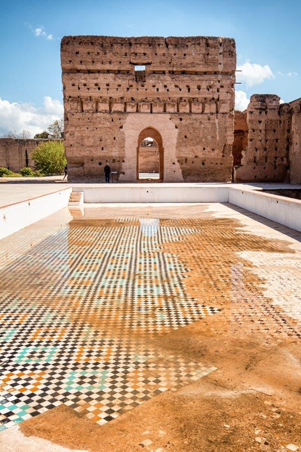 El Badi pałac, Marrakech, Marocco obrazy stock