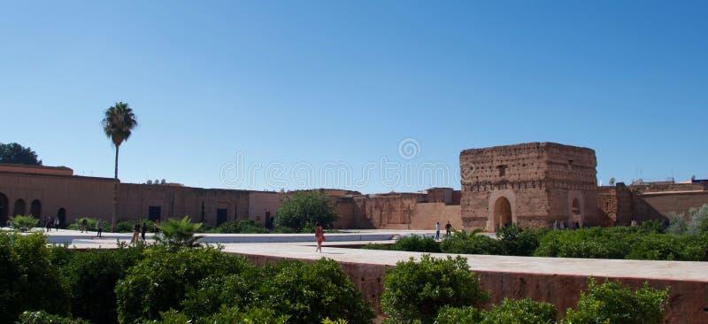 EL Badi Palace, Marrakesh fotografie stock libere da diritti