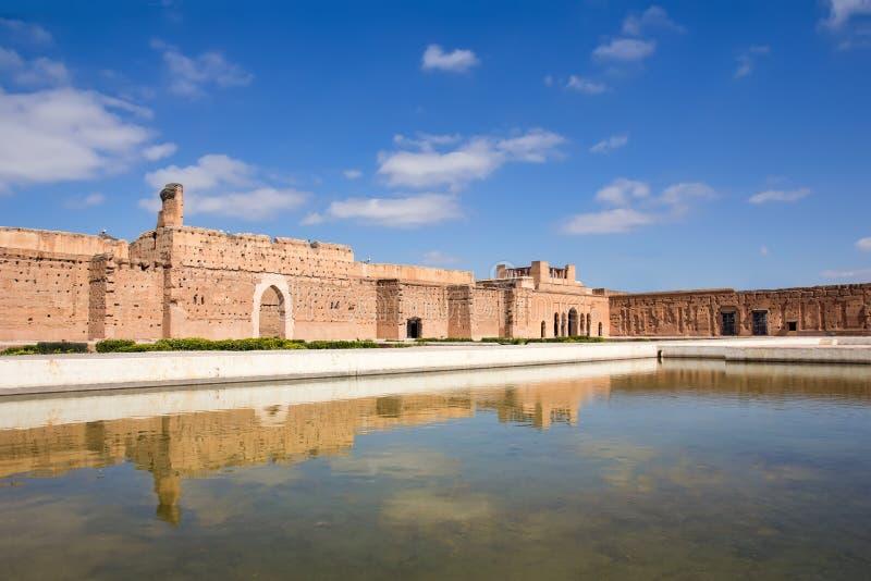 EL Badi Palace a Marrakesh immagini stock libere da diritti