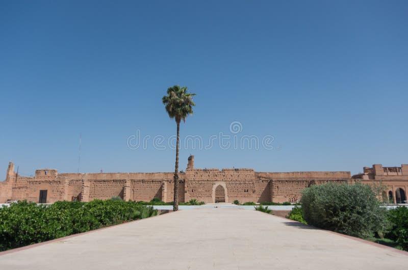EL Badi Palace o EL Badii di Palais a Marrakesh fotografia stock