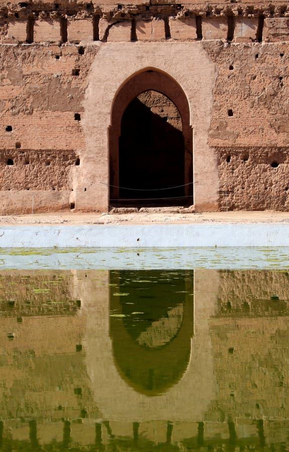 El Badi Palace royaltyfri bild