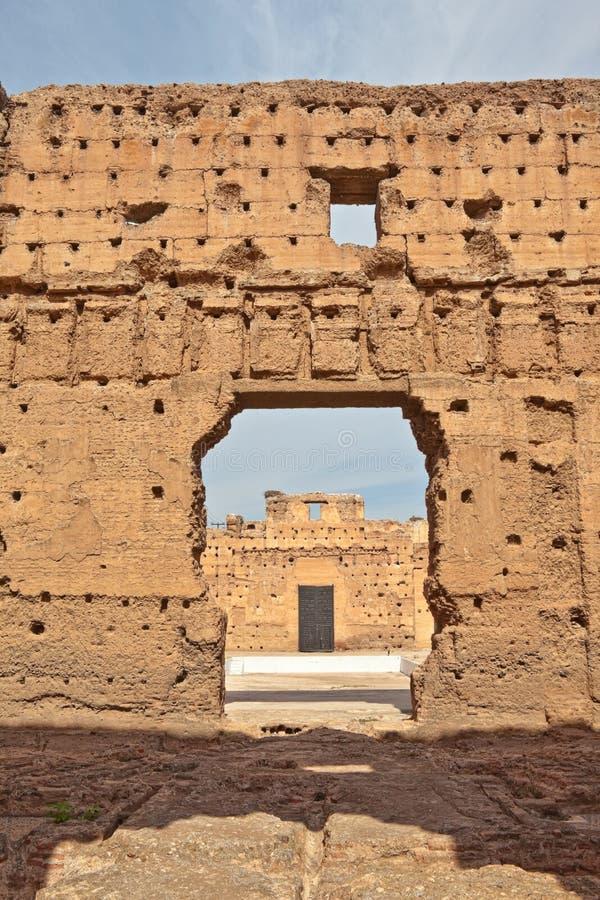 EL Badi (palacio de Palais del EL Badi) imagenes de archivo