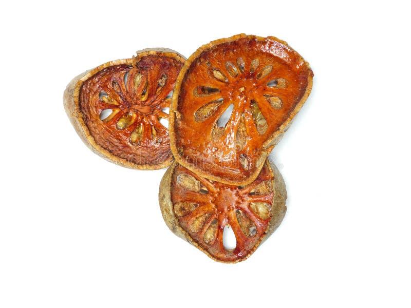 El bael secado da fruto las rebanadas foto de archivo libre de regalías