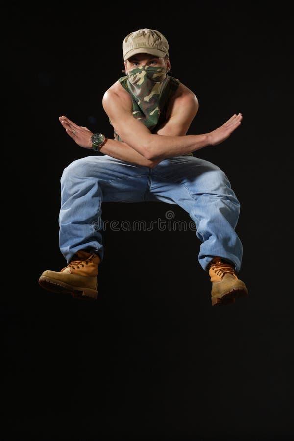 El bailarín del krump foto de archivo