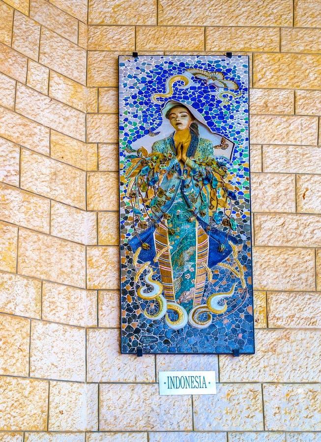 El bajorrelieve de la Virgen María foto de archivo libre de regalías