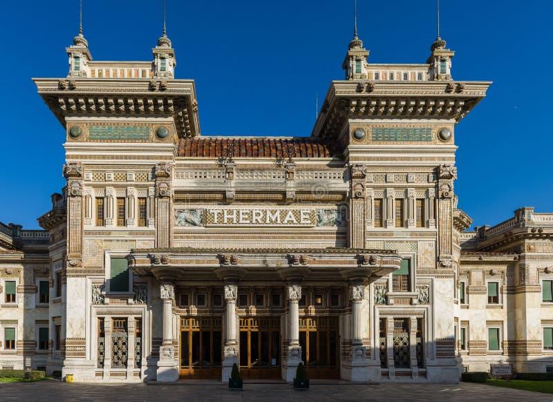 El balneario en Salsomaggiore Terme imágenes de archivo libres de regalías