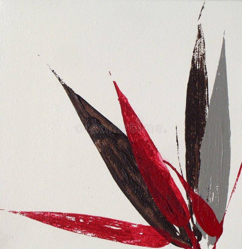 El bambú moderno sale de la pintura imagenes de archivo