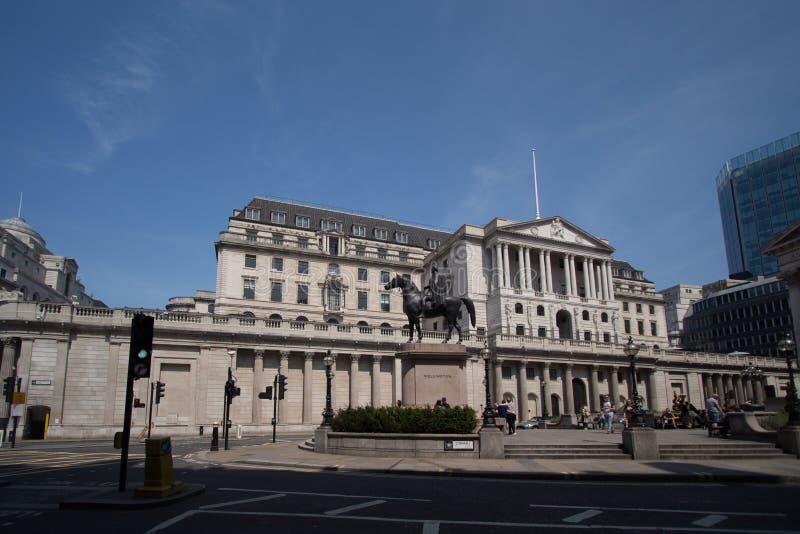 El banco central del Banco de Inglaterra del Reino Unido imágenes de archivo libres de regalías