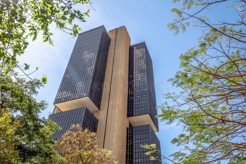 El banco del Brasil central establece jefatura del edificio - Brasilia, Distrito federal, el Brasil fotografía de archivo libre de regalías