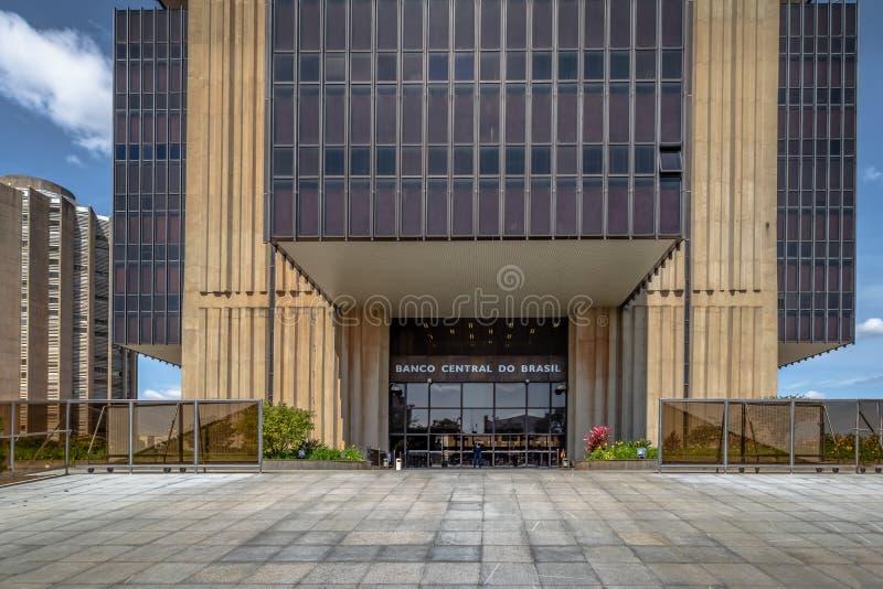 El banco del Brasil central establece jefatura del edificio - Brasilia, Distrito federal, el Brasil foto de archivo libre de regalías