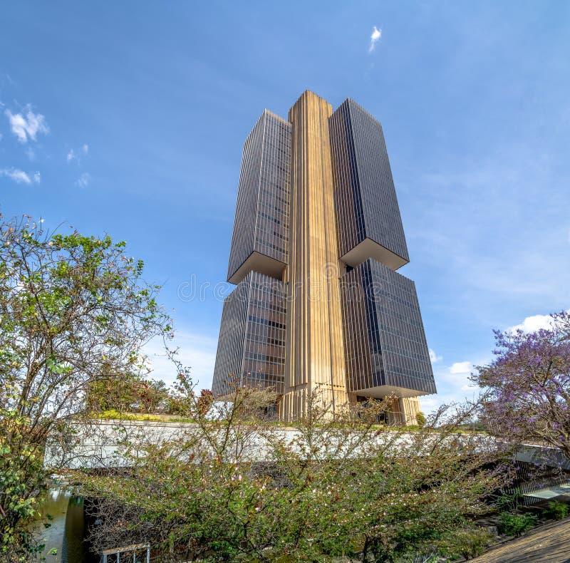 El banco del Brasil central establece jefatura del edificio - Brasilia, Distrito federal, el Brasil imagen de archivo libre de regalías