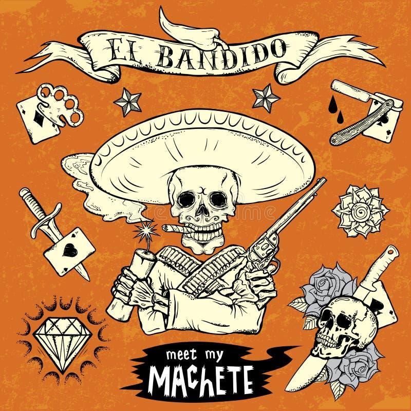 EL Bandido ilustração royalty free
