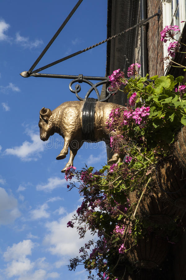 El bar del paño grueso y suave de oro en York imagen de archivo