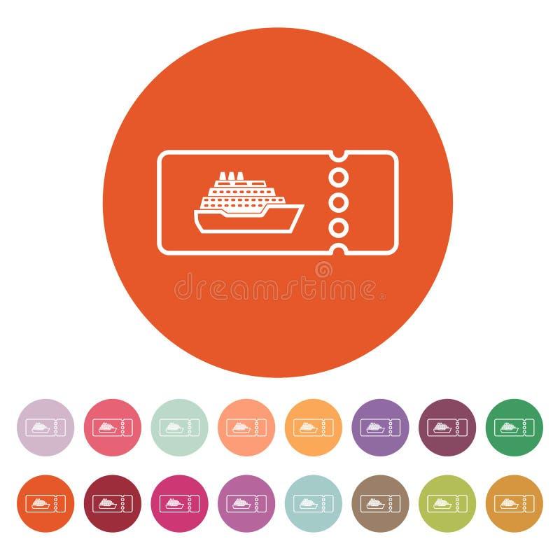 El barco de cruceros marca el icono Símbolo del viaje libre illustration